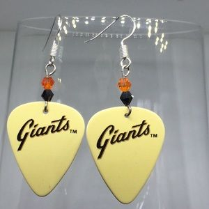San Francisco Giants guitar pic earrings